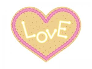 ハートのクッキーのイラスト