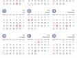 4月始まりの2021年4月~2022年3月の年間カレンダー