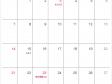 シンプルなデザインの2021年(令和3年)11月のカレンダー