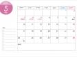 月曜始まりの2021年(令和3年)5月のカレンダー・印刷用