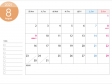 月曜始まりの2021年(令和3年)8月のカレンダー・印刷用