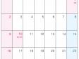 2022年1月(A4)カレンダー・印刷用