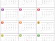 月曜始まりの2022年(令和4年)1~12月カレンダー・A4印刷用
